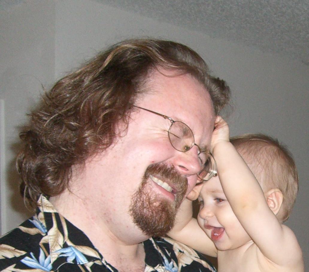 E pulls C's hair, December 2005