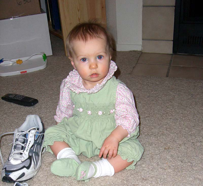 In green overalls, January 2006