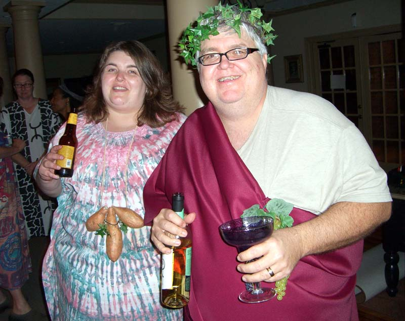 Jill and Jeff at the Ye Gods party