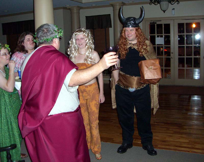 CIMG1797 Marian, Jill, Jeff, Mary, Tim in various gods' costumes