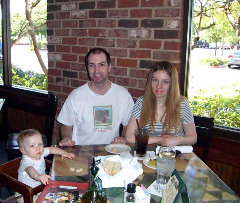 At Carrabas Italian restaurant