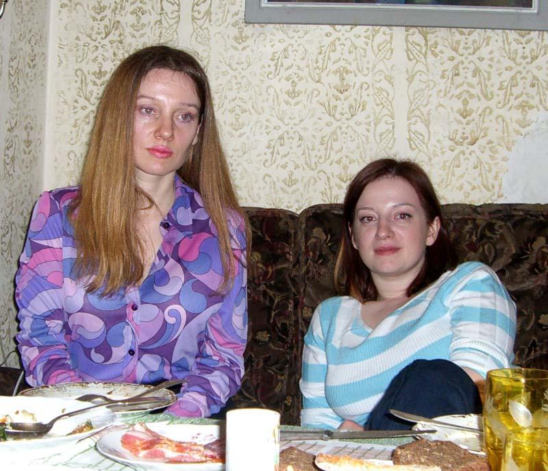 Me and my sister, May 2006