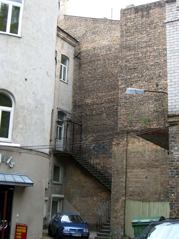 A courtyard in the center of Vilnius
