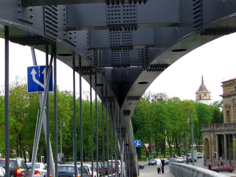 A view from King Mindaugas bridge in Vilnius