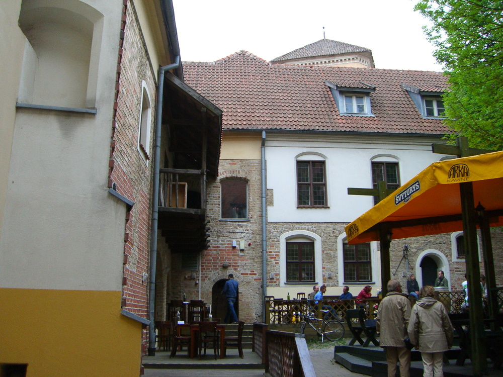 An outdoors restaurant in Vilnius Old Town