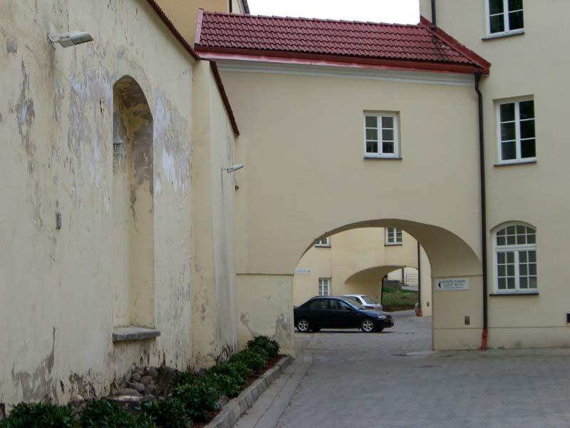 St Theresa's church courtyard
