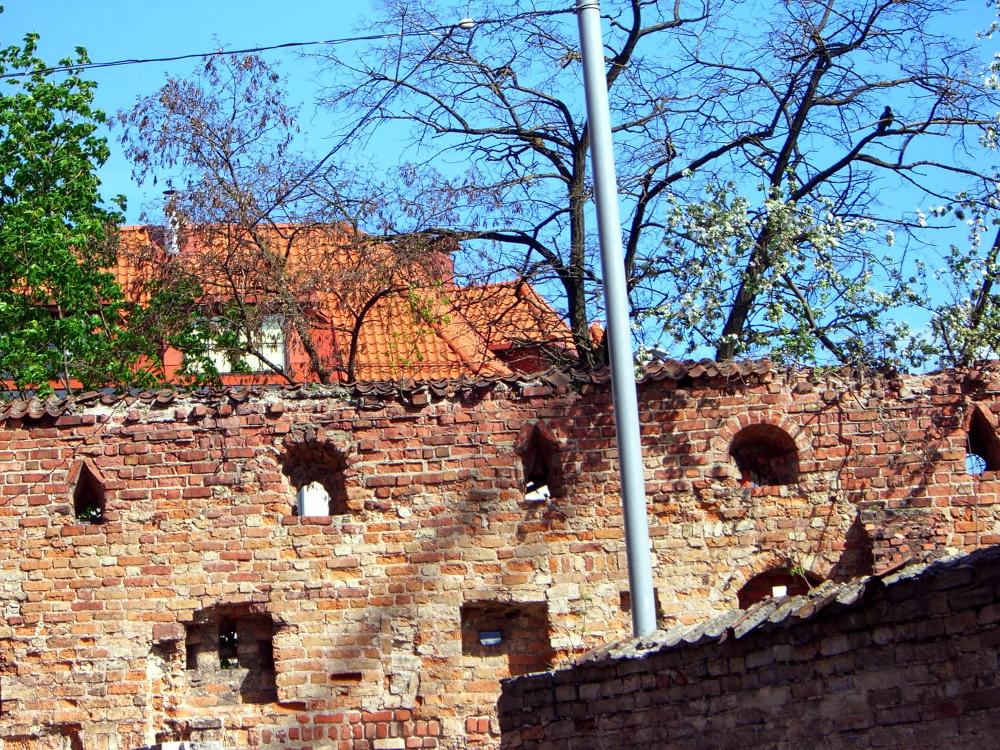 A piece of Vilnius defense wall