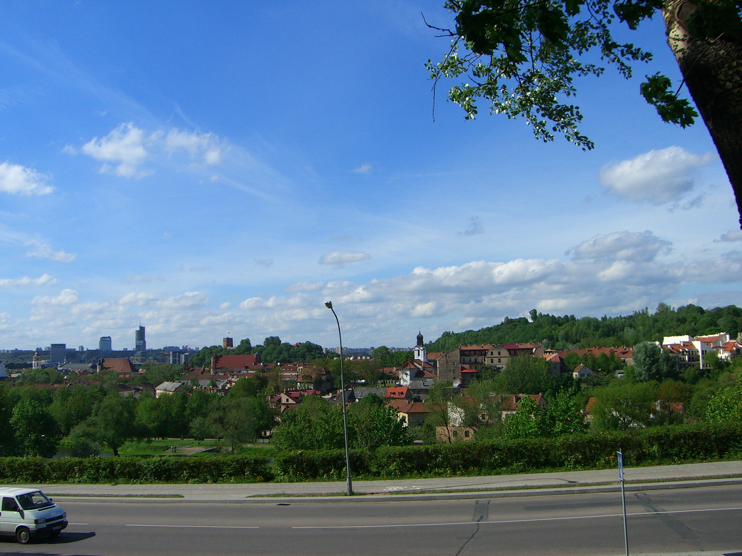 A view of Vilnius from Uzupis