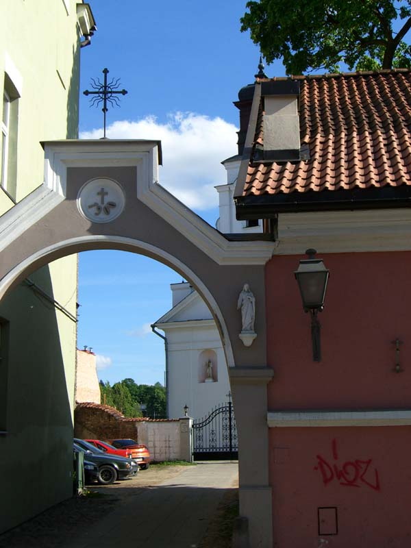 A church gate in Uzupis