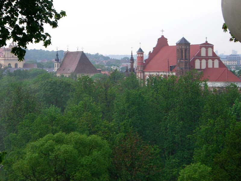 Roofs of the Bernardine monastery, seen from Tores cafe