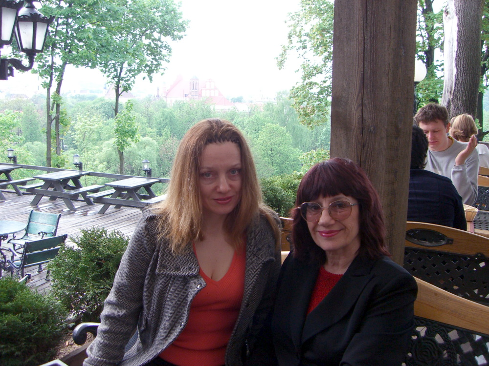Mom and I at the Tores cafe