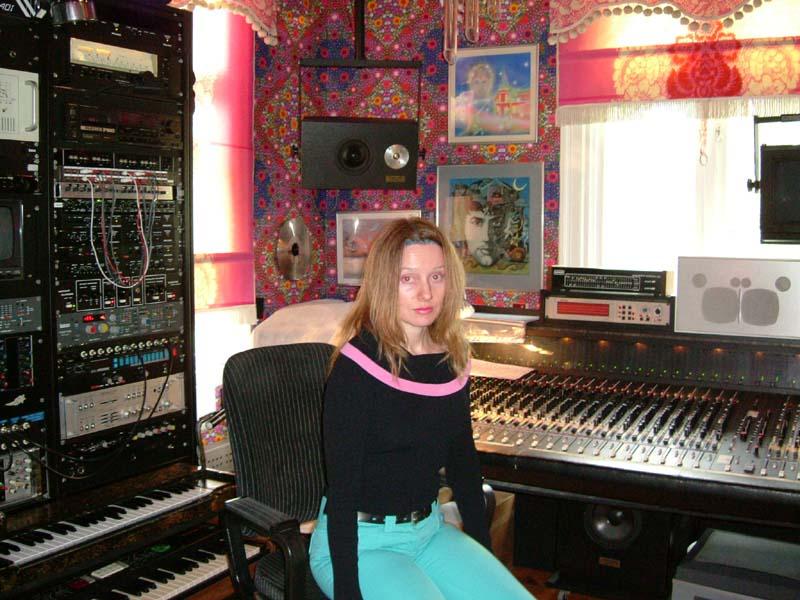 Me in an electronic music studio