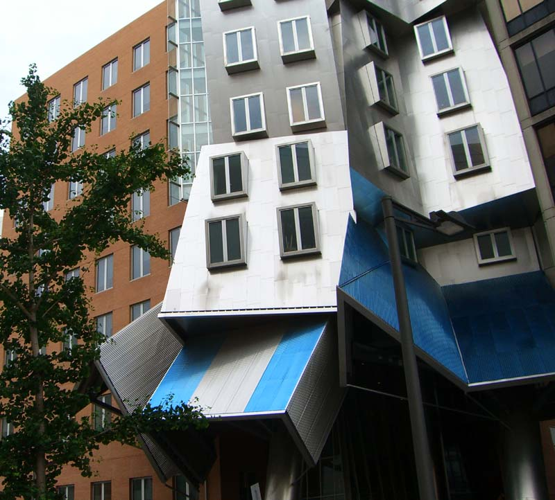 MIT buildings that look like they were caught in a twisted space vortex