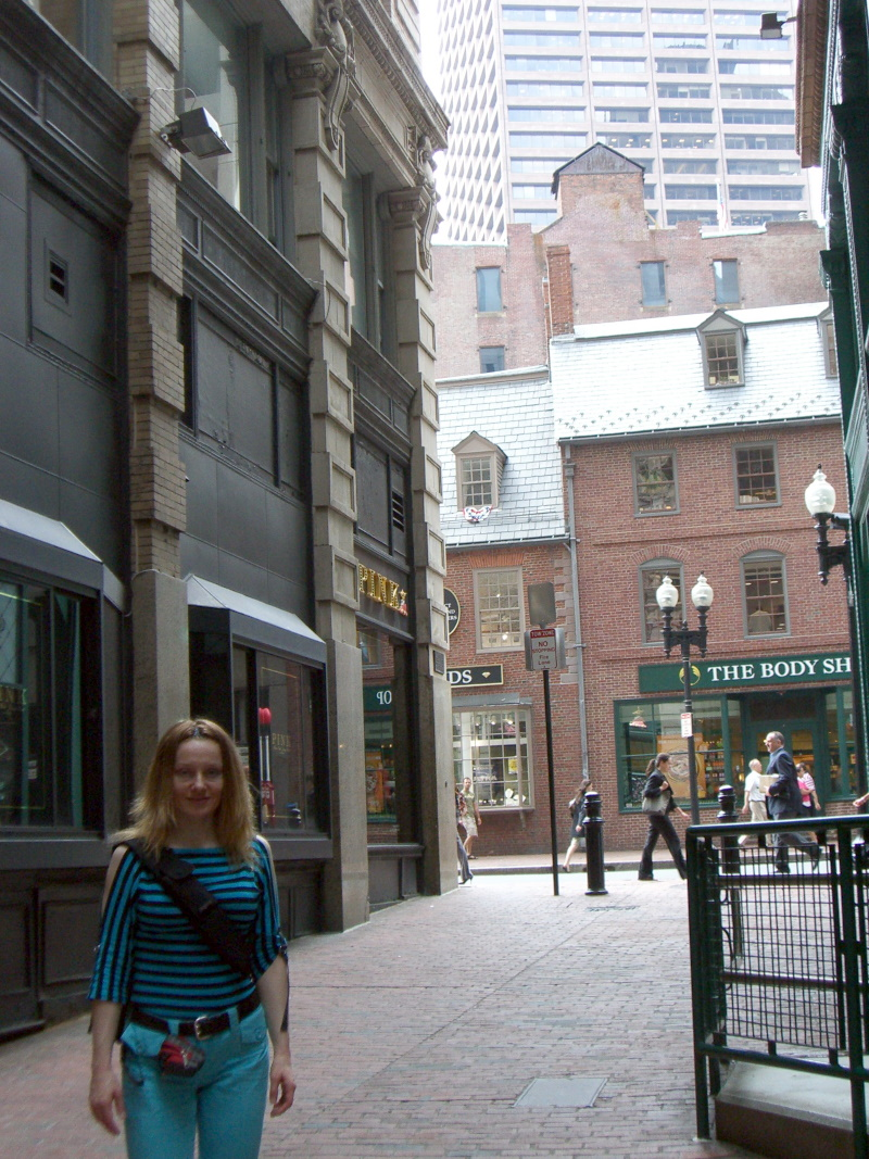 Me in Boston old town