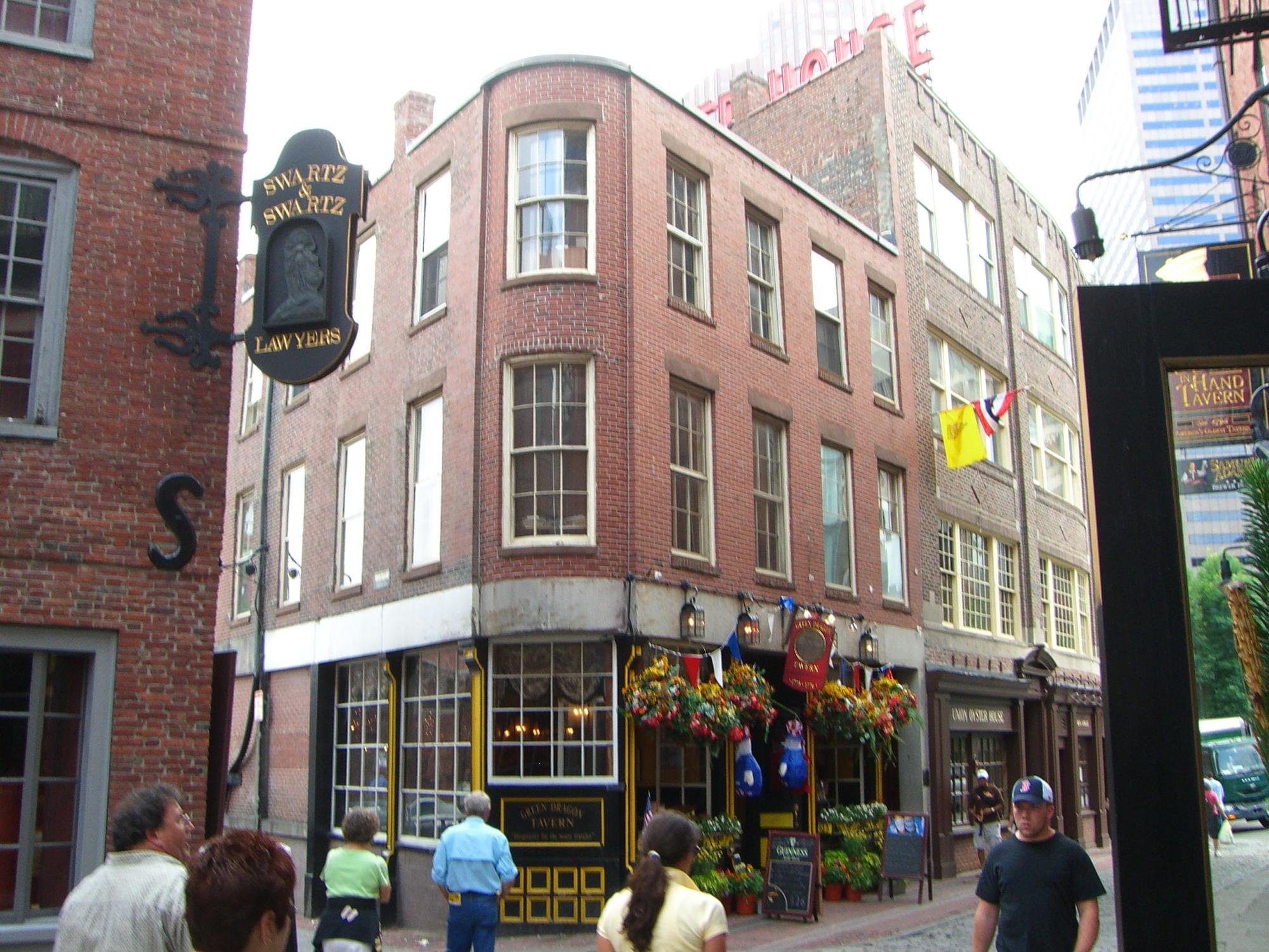 Street corner near Bell In Hand Tavern