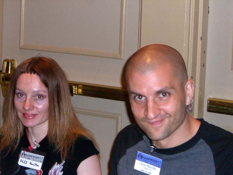 China Mieville and me at the book signing at Readercon 2006