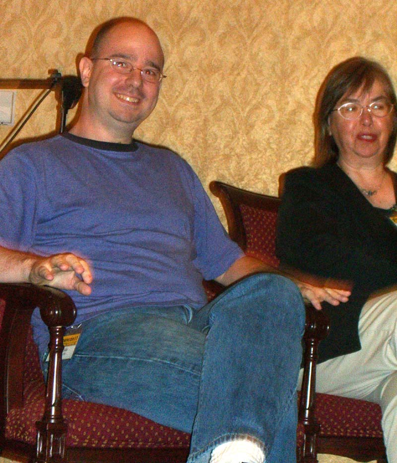 John Scalzi and Beth Meacham at Readercon 2006