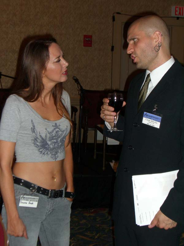 Deanna Hoak and China Mieville at Readercon 2006
