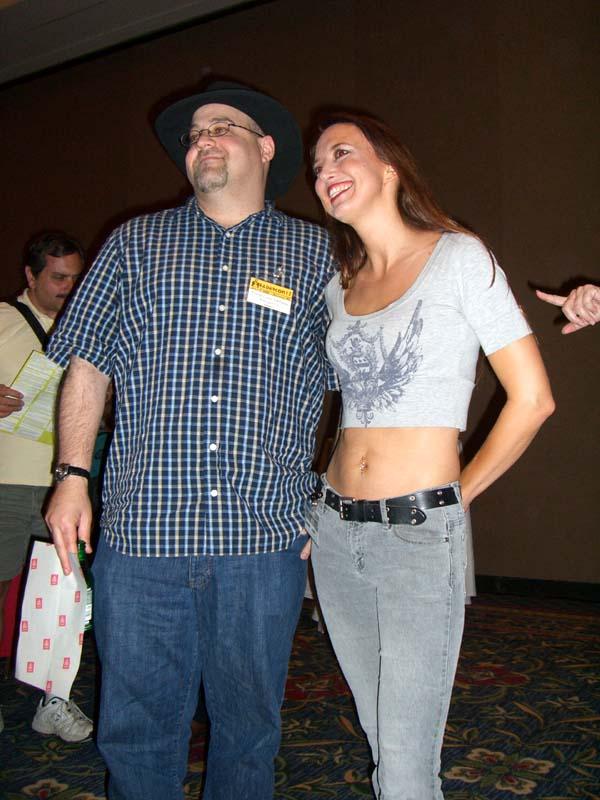 David Louis Edelman and Deanna Hoak at Readercon 2006