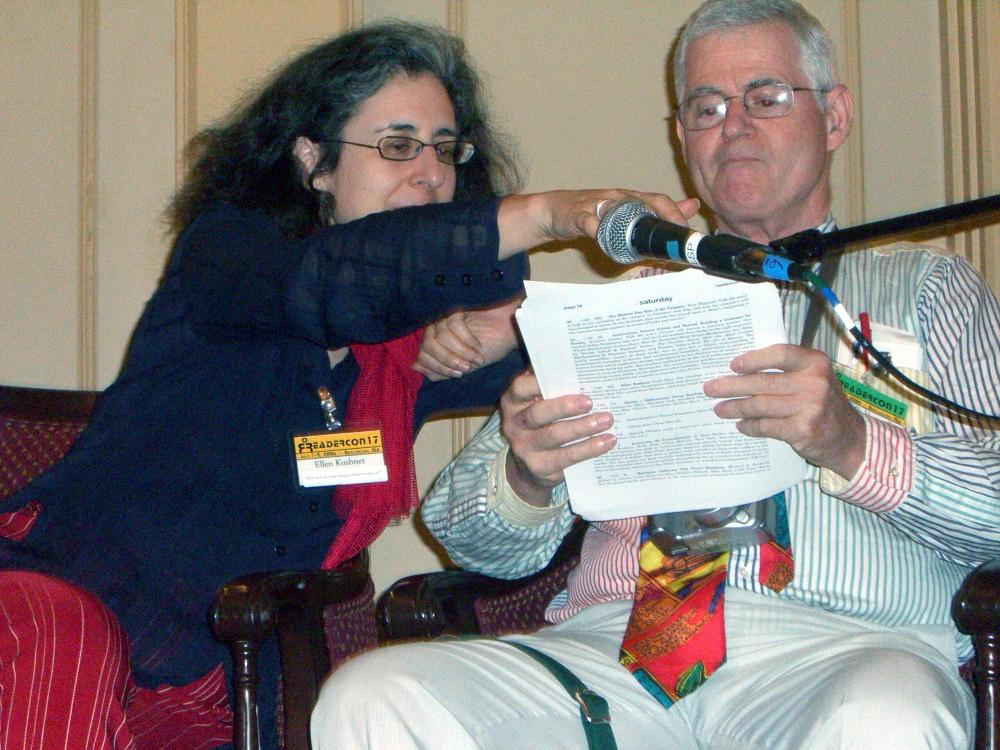 Ellen Kushner and David Hartwell at Readercon 2006