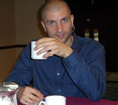 At the kaffeeklatch with China Mieville at Readercon 2006