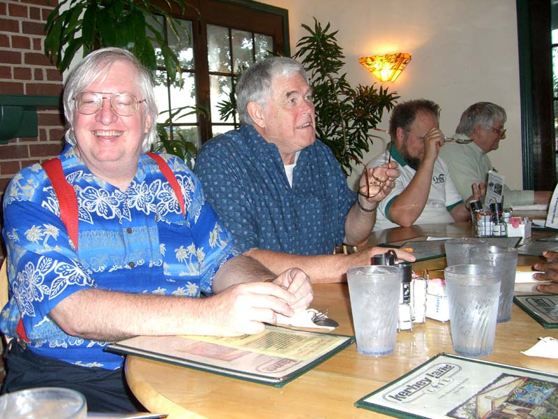 FACT group dinner with James P. Hogan, August 2006 in Austin, TX