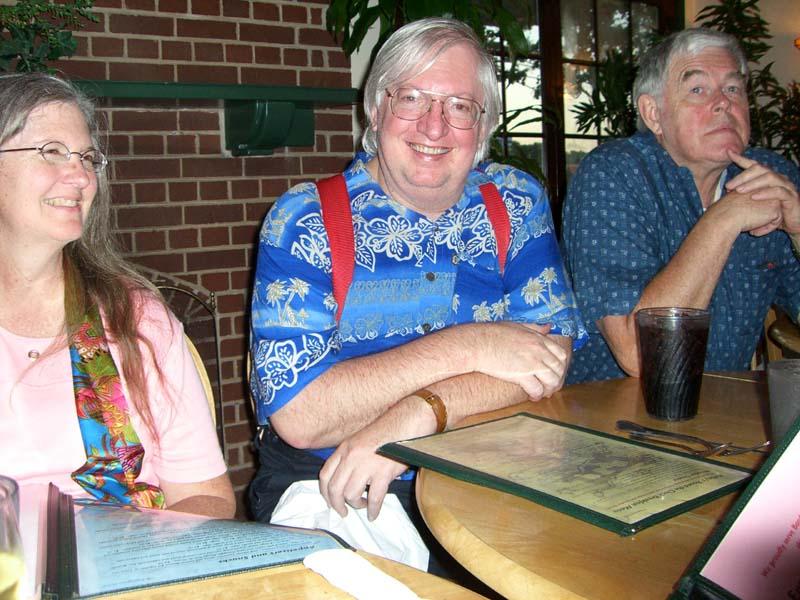 Madeleine, Willie Siros, James P. Hogan in August of 2006