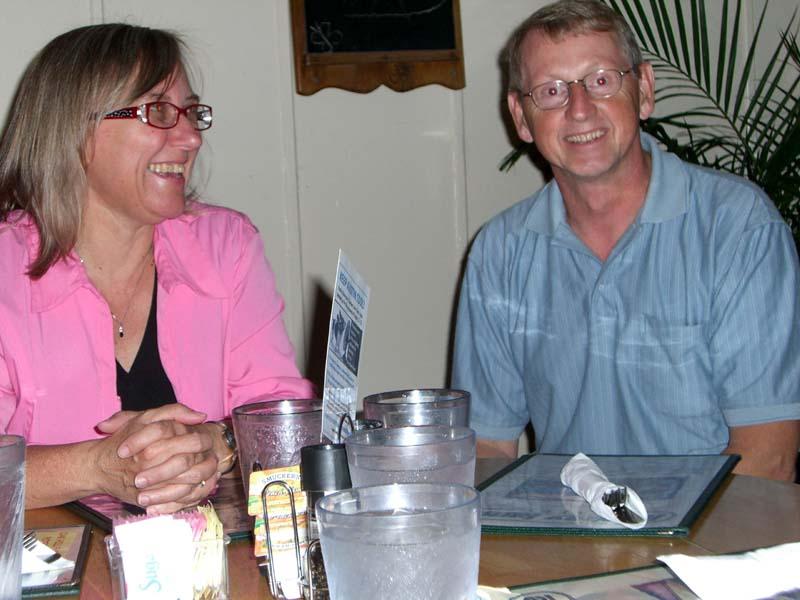 Julie Czerneda and her husband, August 2006