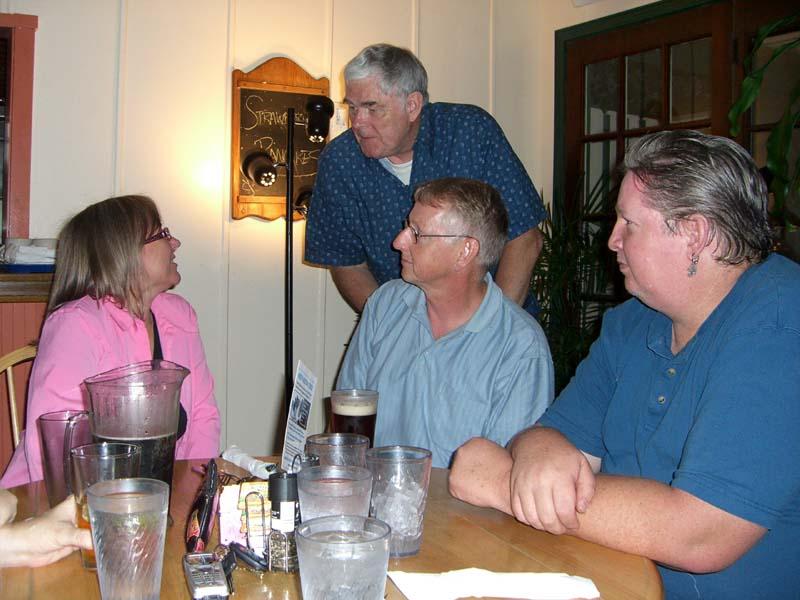 Julie Czerneda meets James P. Hogan, August 2006