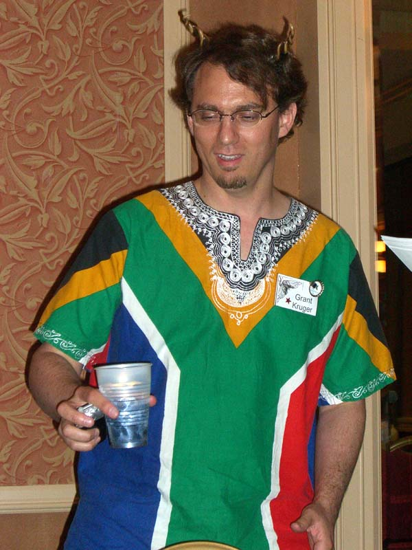 Fan guest Grant Kruger at the ArmadilloCon 2006 opening ceremony