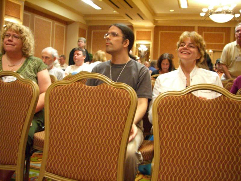 Wendy Wheeler and Sharon at the ArmadilloCon 2006