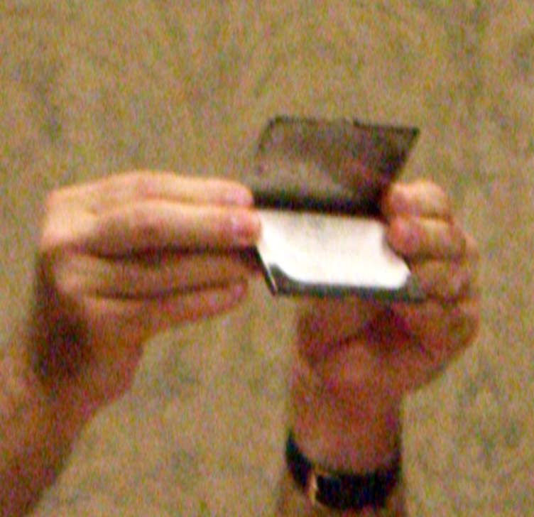 A business card holder at Stump The Panel 2006