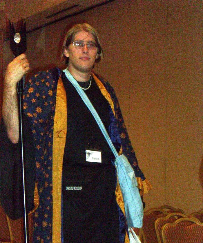 A starred cloak and a spear