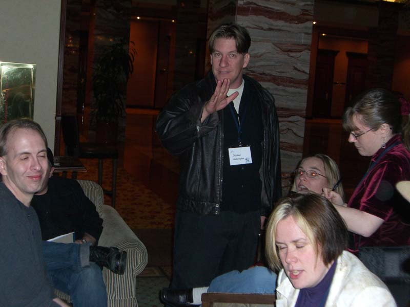 Michael Gallowglas at the World Fantasy Convention 2006