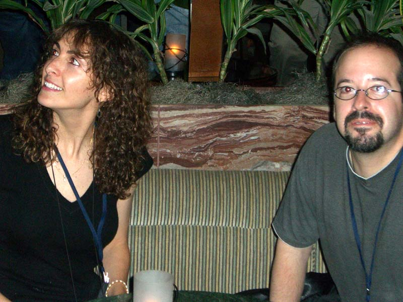 Two people at the hotel bar at the World Fantasy Convention 2006