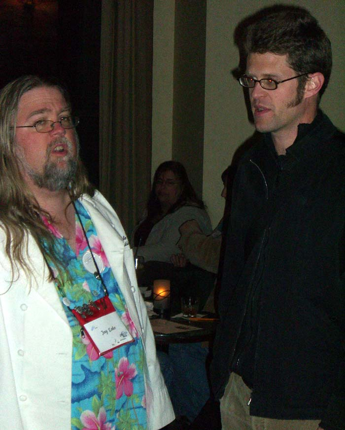 Jay Lake (left) at the World Fantasy Convention 2006