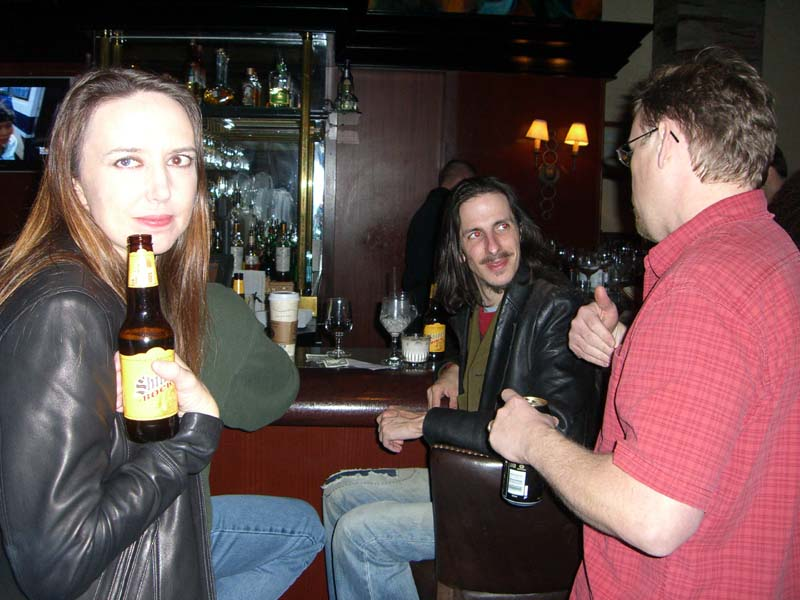 DH at the hotel bar at the World Fantasy Convention 2006