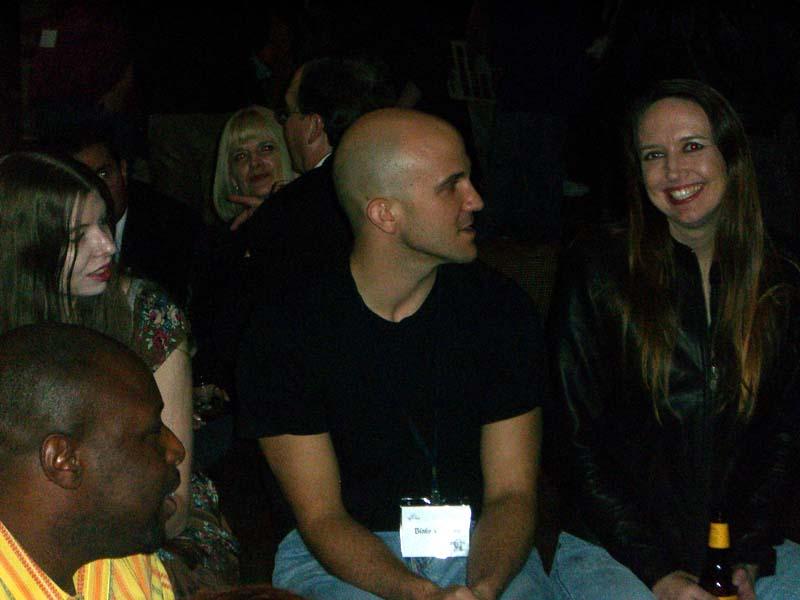 LG, BC and DH at the hotel bar at the World Fantasy Convention 2006