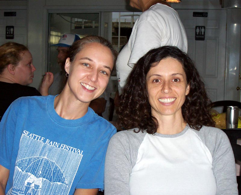 Tracie and other ACA people in the cruise boat, September 2006