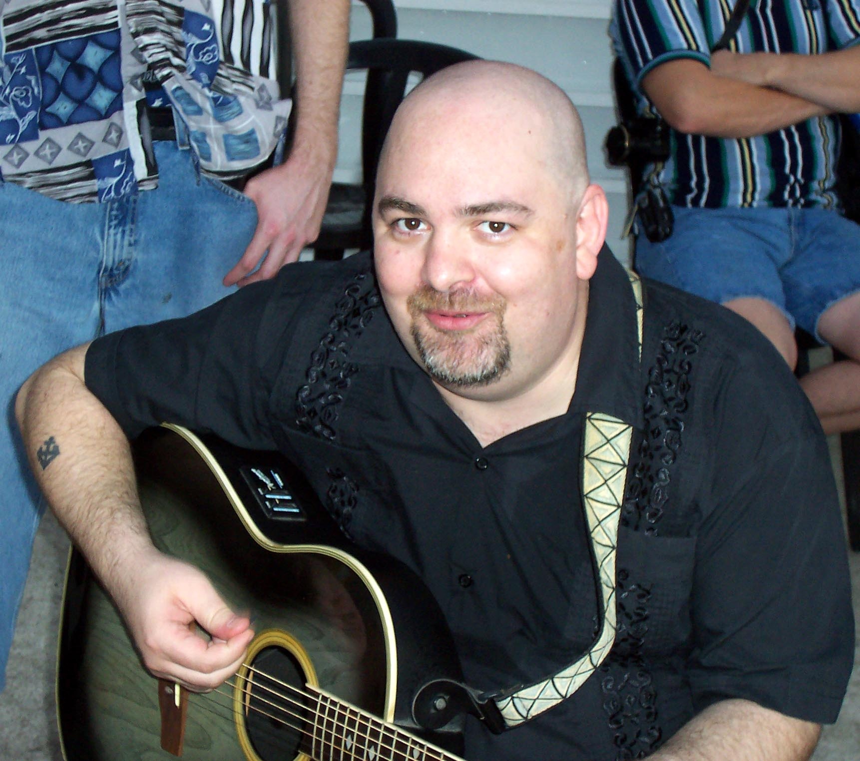 picture_026 Matt Dillahunty, the then-president of the ACA, with a guitar on a bat cruise in September 2006