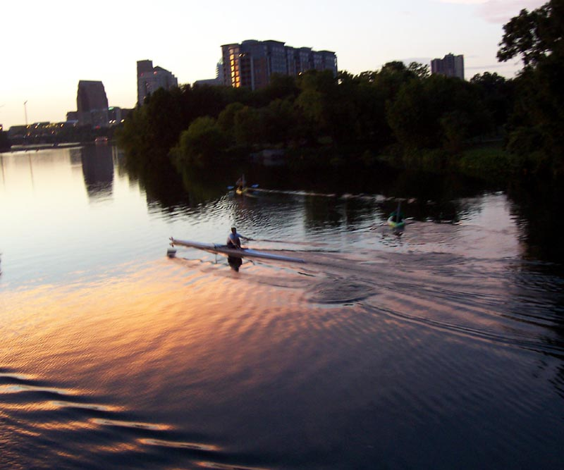 picture_044 A kayak at sunset on Town Lake in Austin, TX, September 2006