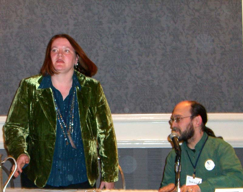 EB and DL on the Fantasy, Blogosphere and Social Networking panel at the World Fantasy Convention 2006