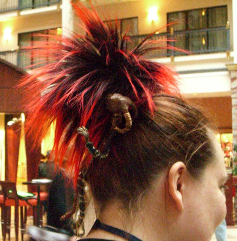 World Fantasy Convention 2006: a hair decoration
