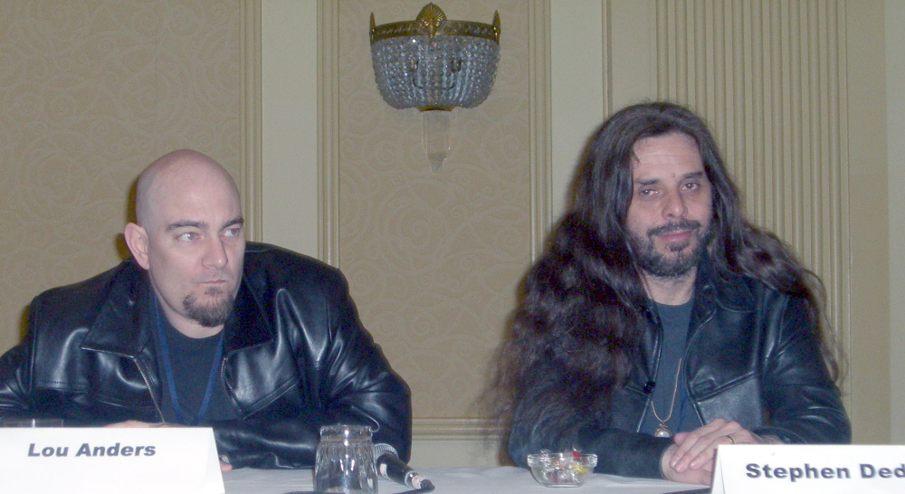 World Fantasy Convention 2006, Explain This Book panel: Lou Anders and Stephen Dedman