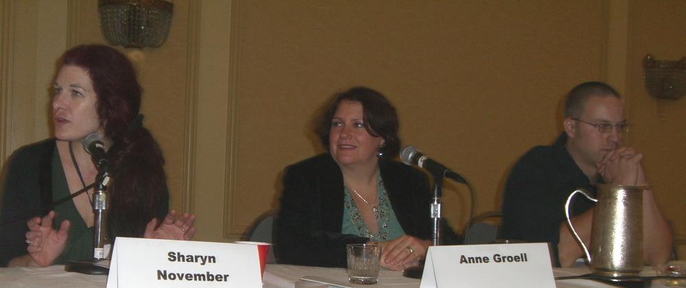 World Fantasy Convention 2006, Explain This Book panel: Sharyn November, Anne Groell, Matthew Bey