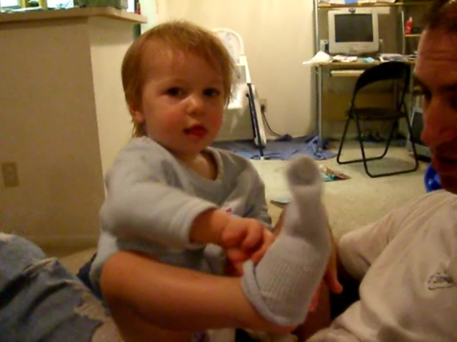 Learning to put on socks