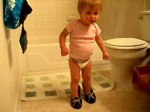 Wearing grown-up shoes at 18 months