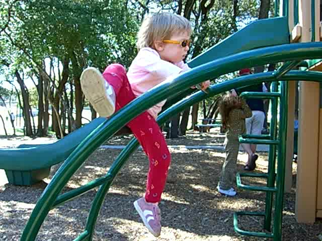 Making progress climbing a semicircular ladder