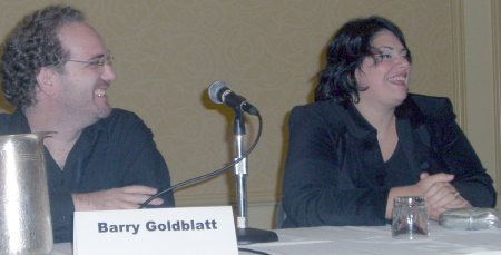 CIMG4411 Barry Goldblatt and Holly Black at the Young Adult Fantasy in the 21st Century panel at the World Fantasy Convention 2006