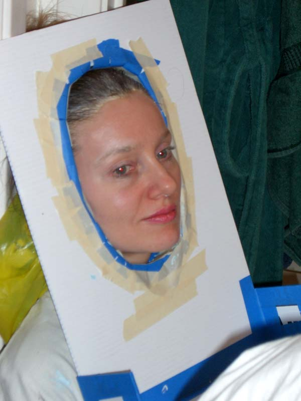 Me in a face casting frame